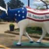 DHR17 - patriotic cow