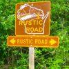 DHR17 - rustic road sign