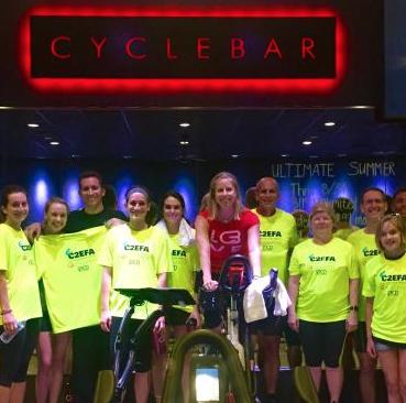C2EFA riders at Cyclebar